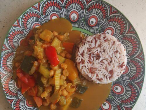 Curry di verdure e ceci